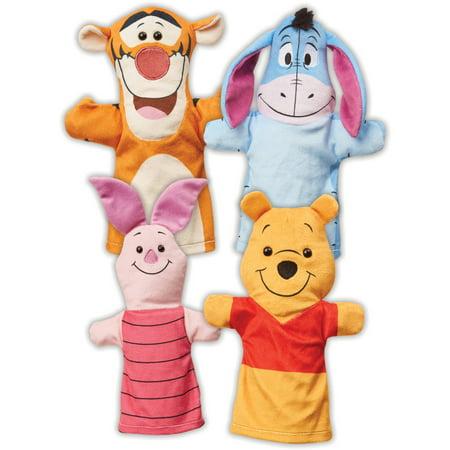 Melissa & Doug Winnie The Pooh Soft & Cuddly Hand Puppets Plush