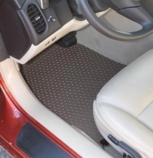 Corvette Floor Mats - All Weather Rubber Lloyds Mats : C6 & Z06 Hook Style Anchor (Gray 2007 Late-2011)