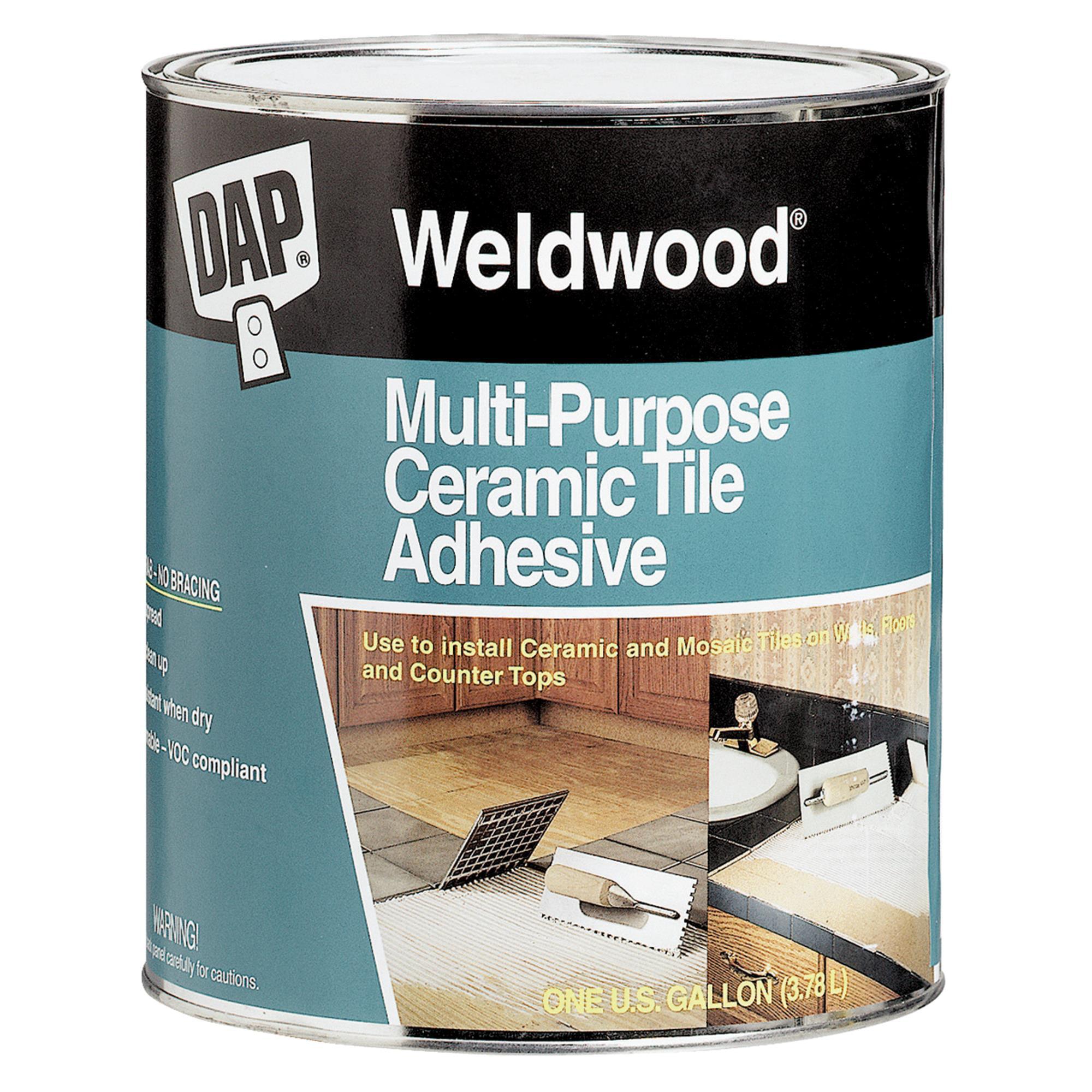 Ceramic tile adhesive dap 25192 1 gallon weldwood multipurpose ceramic tile adhesive dailygadgetfo Gallery