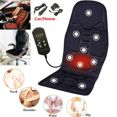 8 Mode 3 Intensity Full Body Electric Kneading Rolling Vibration Back Neck Lumbar Shiatsu Massager with Heat Memory Foam Car/Home Massage Mat Pad Seat Cushion For Chair Seat