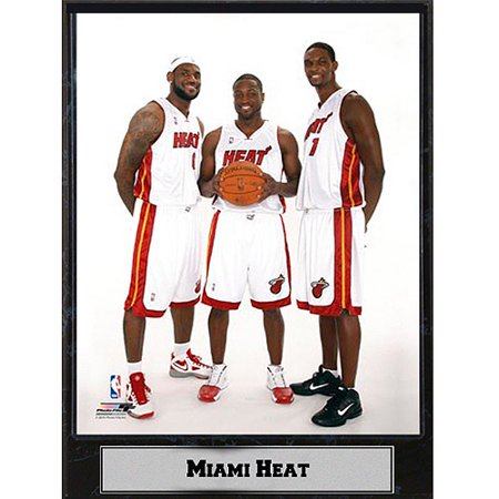 NBA Miami Heat Big 3 Photo Plaque, 9x12 - Miami Heat Decorations