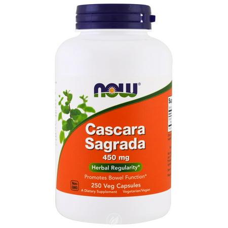 Now Foods Cascara Sagrada 450 mg - 250 Caps, Pack of 2 250 Caps Now Foods