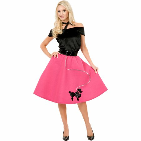 Poodle Skirt, Top and Scarf Adult Halloween Costume