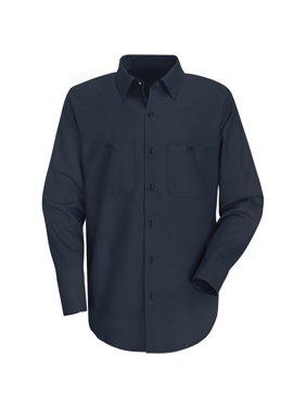 Red Kap Men's Long Sleeve Wrinkle-Resistant Cotton Work Shirt