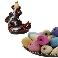 50pcs Smoke Tower Cone Bullet Backflow Incense Hollow Cones Lavender Best Pop(Not include  incense holder)