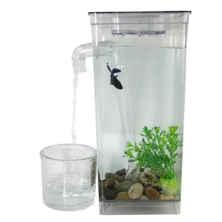 Self Cleaning Fun Fish Tank - Small Aquarium Desktop Bowl