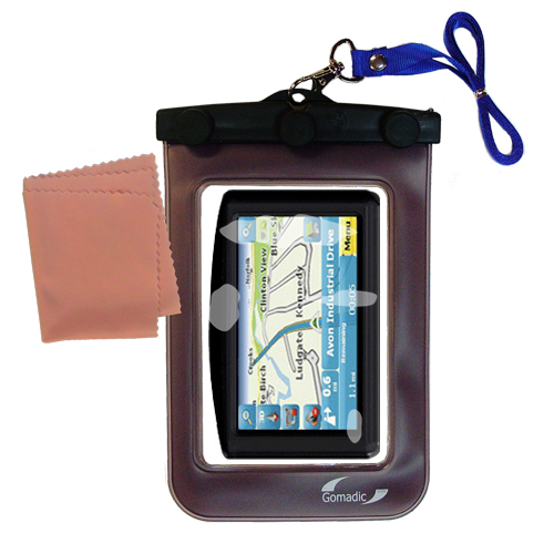 Gomadic Clean and Dry Waterproof Protective Case Suitablefor the Maylong FD-420 GPS For Dummies to use Underwater