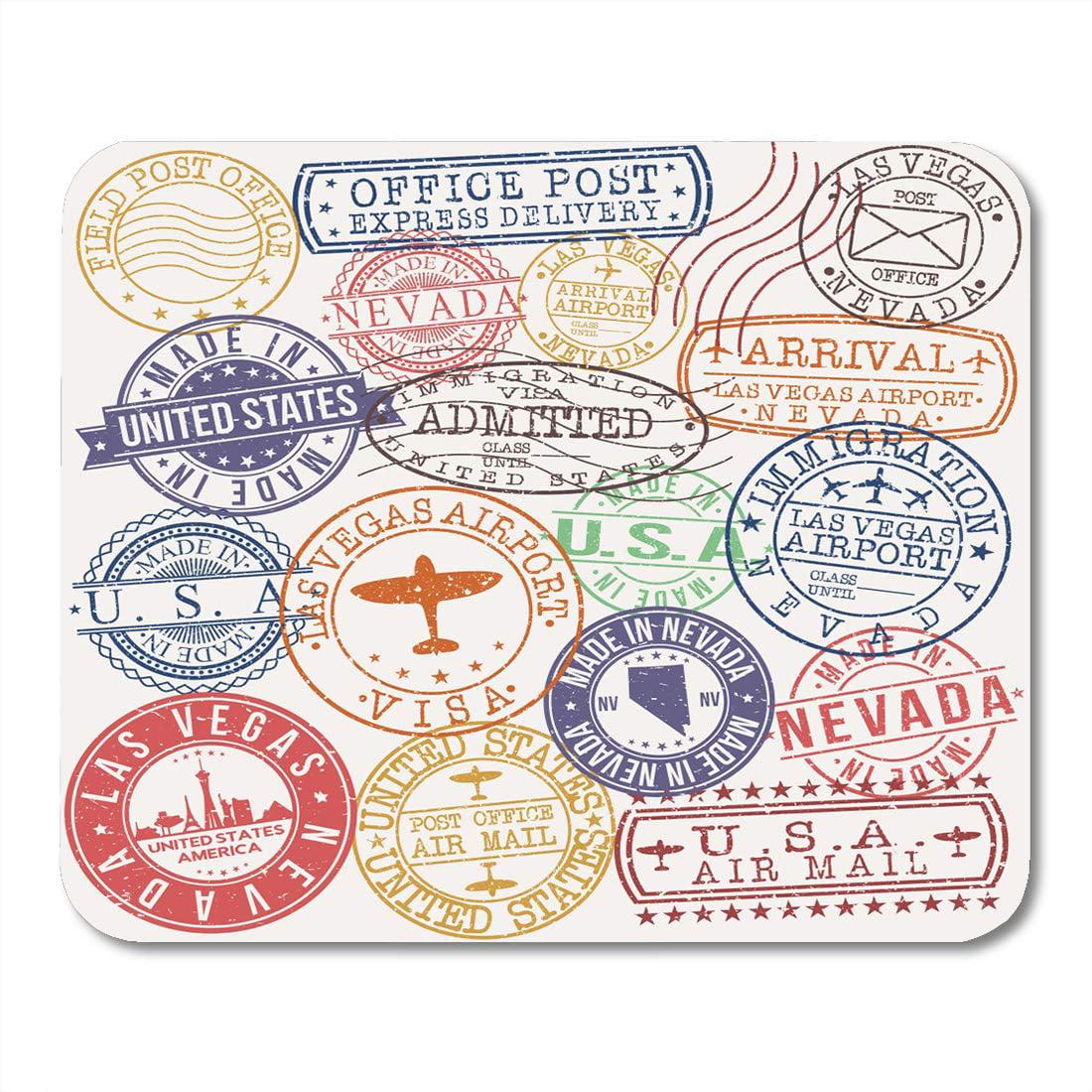 KDAGR America Skyline Las Vegas USA Stamp Postal Passport
