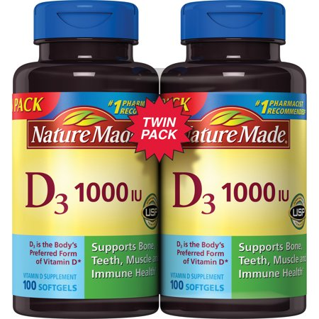 Nature Made Dâ 1000 IU Softgels, 100 count, 2