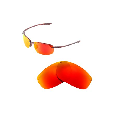 Walleva Fire Red Polarized Replacement Lenses for Maui Jim Ho'okipa (Maui Jim Lenses Review)