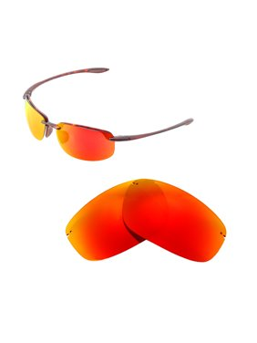 54d314fd1e Product Image Walleva Fire Red Polarized Replacement Lenses for Maui Jim  Ho okipa Sunglasses