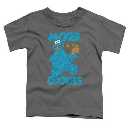 Toddler: Sesame Street- More Cookies Apparel Baby T-Shirt - Grey