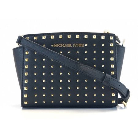 BRAND NEW WOMEN'S MICHAEL KORS SELMA STUD LEATHER MINI CROSSBODY HANDBAG BAG