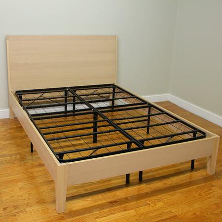 modern sleep hercules heavy duty 14 inch platform metal bed frame mattress foundation multiple sizes walmartcom - Wood And Metal Bed Frame
