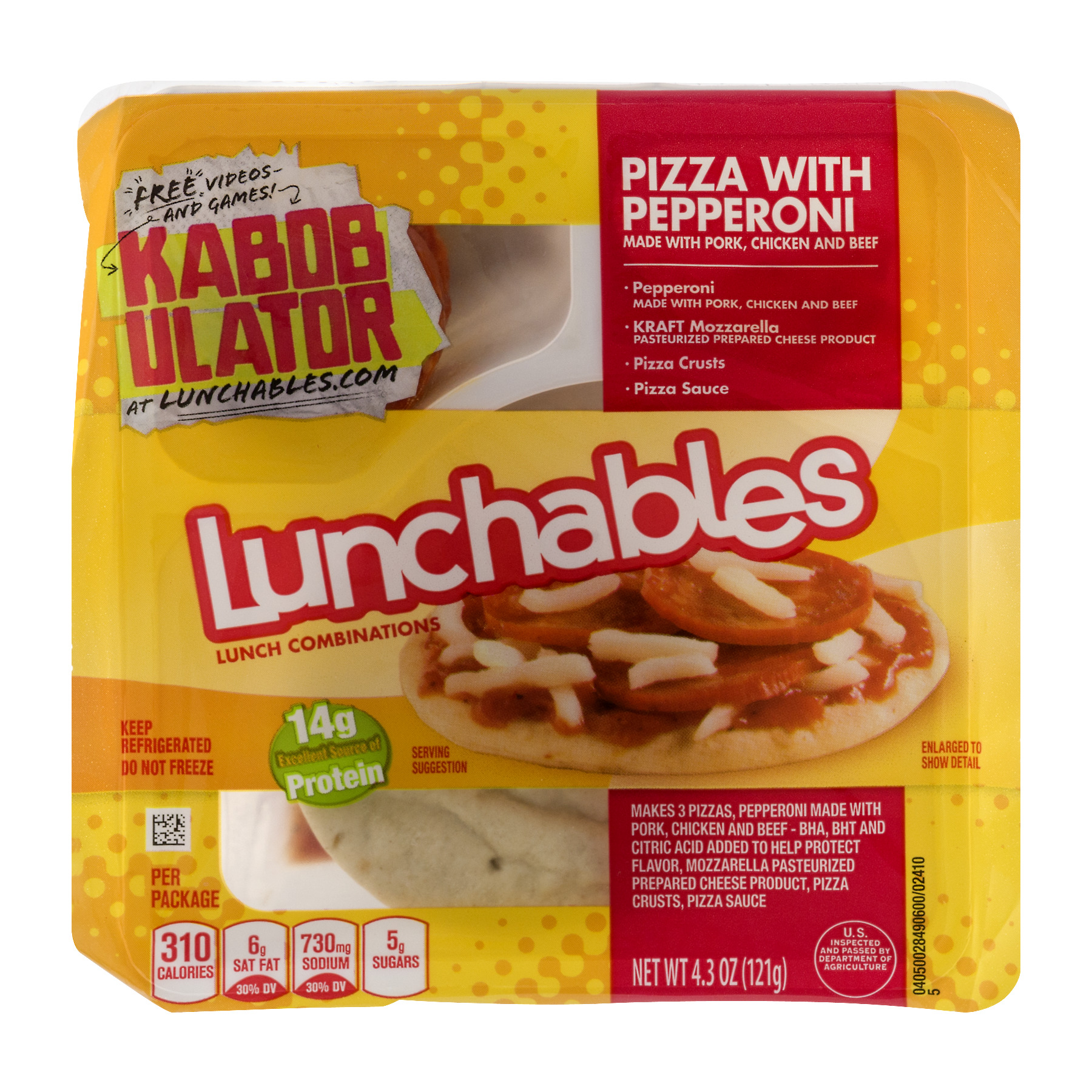 Lunchables Lunch Combinations Pizza with Pepperoni, 4.3 OZ