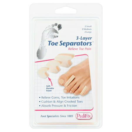 6 Pocket Vertical Separator Desk (PediFix 3-Layer Toe Separators, 6 count)