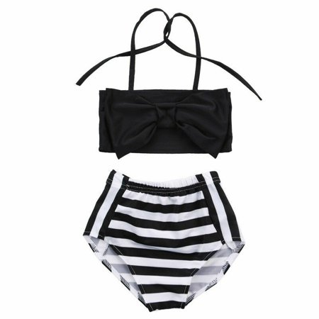 Baby Girls Striped bathing suit baby Swimsuit Bathing Swimming -