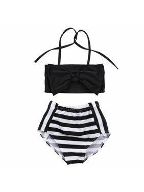 Baby Girls Striped bathing suit baby Swimsuit Bathing Swimming Clothes