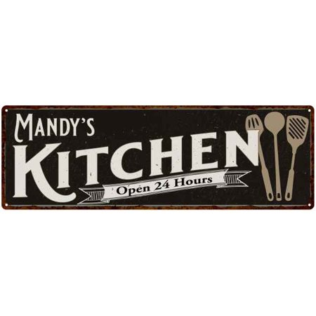 Mandy's Personalized Kitchen Sign Chic Wall Decor Gift Mom 8x24 - Personalize Gift