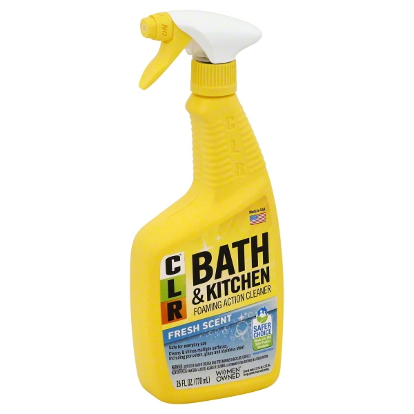 CLR Bath U0026 Kitchen Cleaner, 26 Fl Oz, Fresh Scent Spray