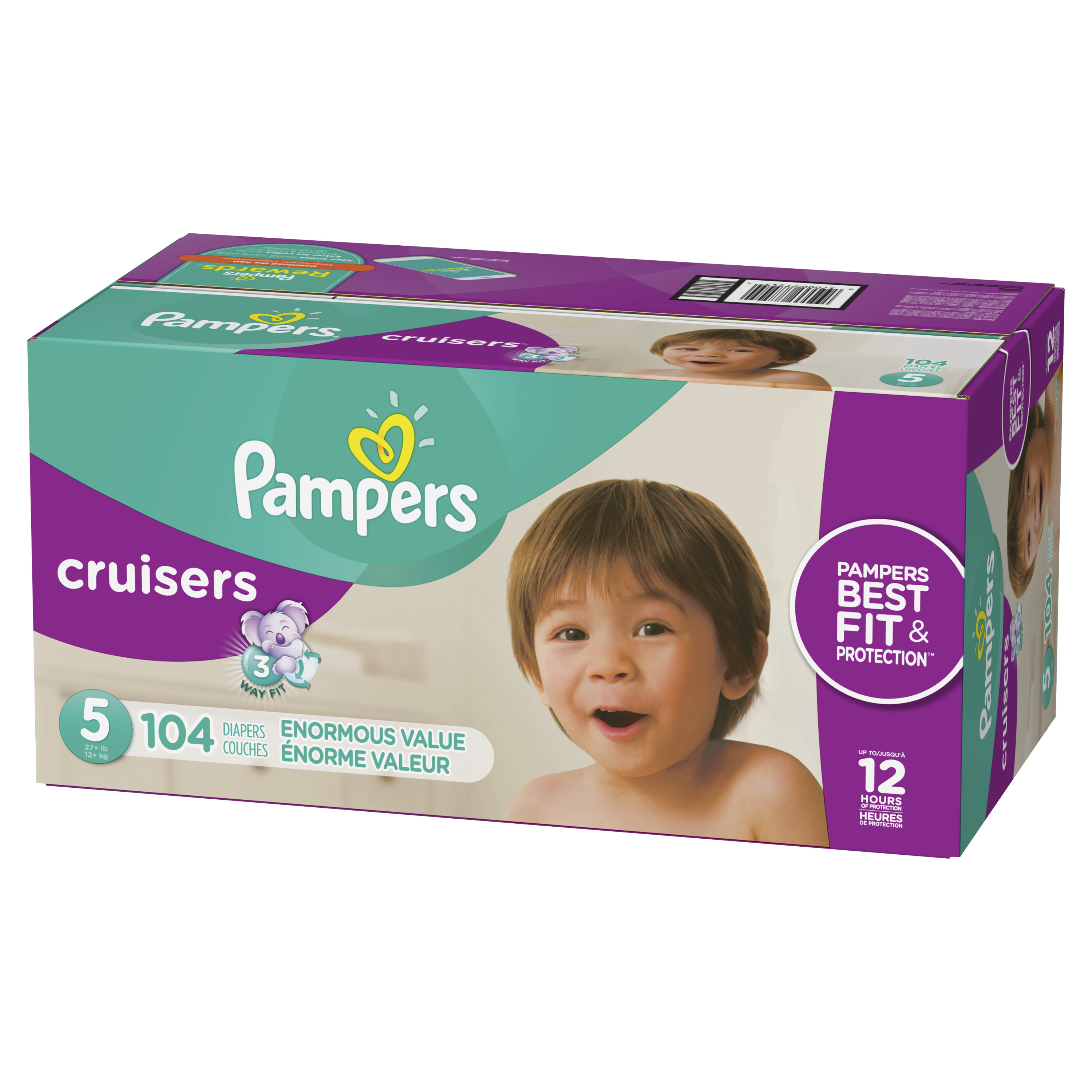 Pampers Cruisers Diapers, Size 5, 104 Count