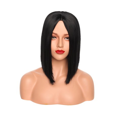 S-noilite 12 Inches Ombre Wigs Short Bob Hair Wigs Synthetic Cosplay Daily Party Wig for Women Dark (Best Ombre Short Hair)