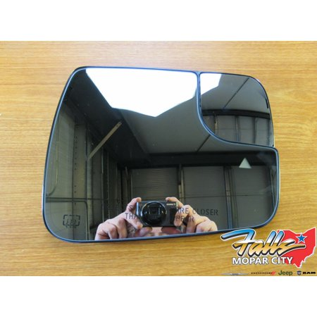 Oem Heated Glass (2019 Dodge Ram DT Passenger Heated Mirror Glass Replacement Blind Spot Mopar OEM)