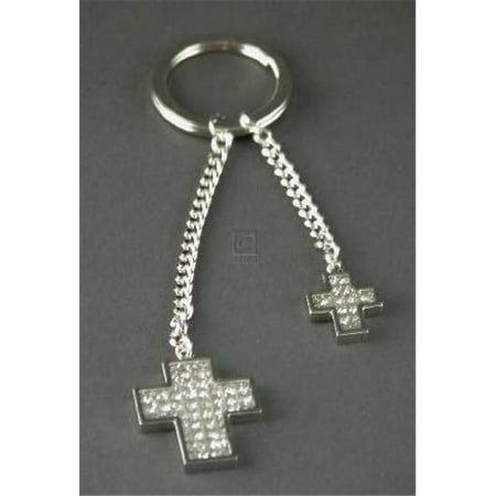 Glitter Galore Double Cross Key Chain](Cross Key Chains)