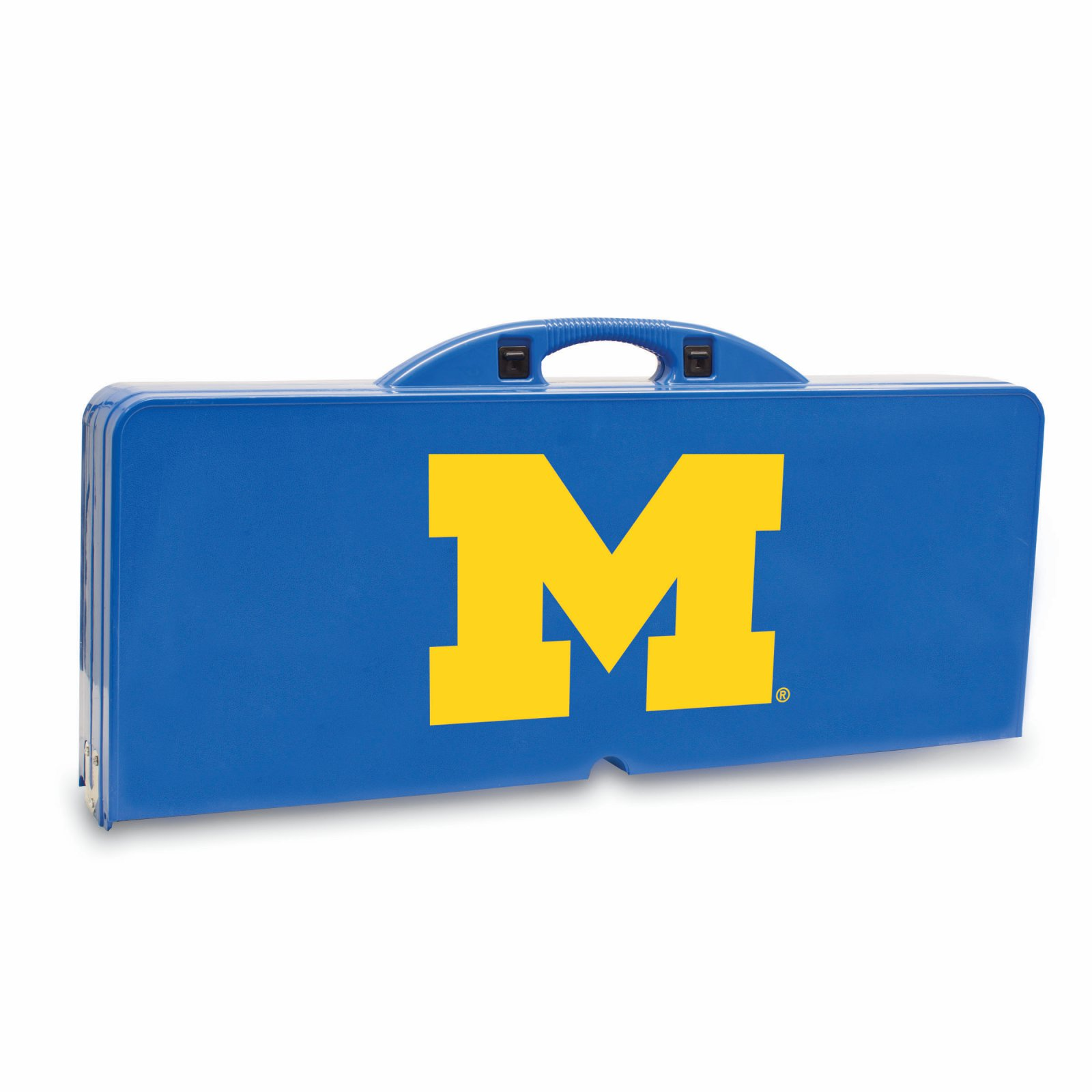 Michigan Wolverines - Portable Picnic Table by Picnic Time (Blue)