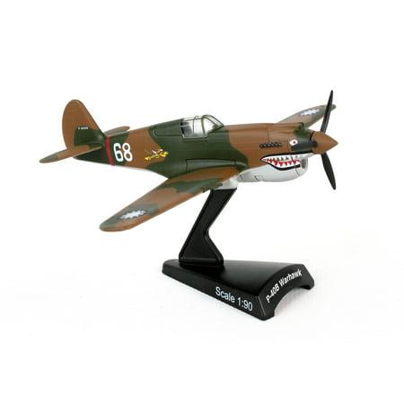 Postage Stamp P-40 Hells Angel 1:90 Scale Model Plane ()