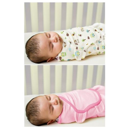 Summer Infant 2 Count Swaddleme Blanket, Forest/Pink, Large