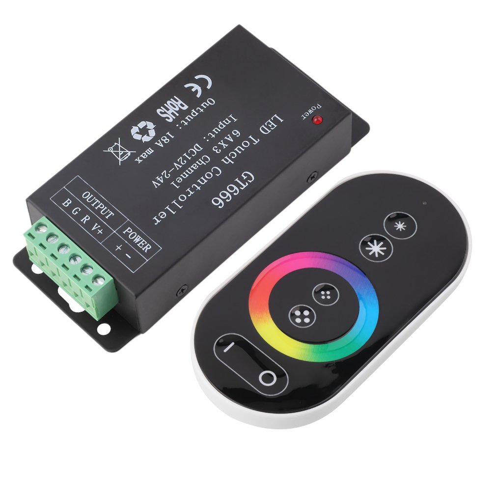 LED Touch Controller DC12V-24V 18A Wireless Panel Dimmer For RGB Strip Light