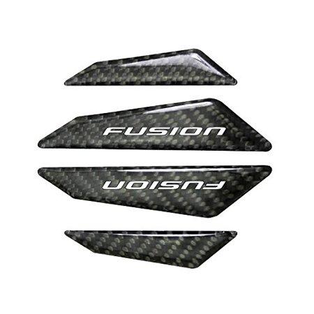 Ford Fusion Real Black Carbon Fiber Door Edge Guard Decal Real 2x2 Carbon Fiber