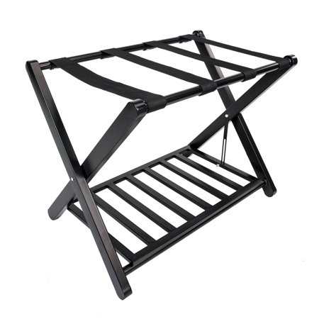 UBesGoo 2 Tier Steel Portable Travel Folding Luggage Suitcase Rack Stand for Home Hotel