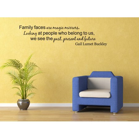 Family Faces Like Mirrors Past Present Future Vinyl Wall Decal