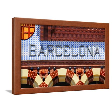 Barcelona Sign Framed Print Wall Art By nito
