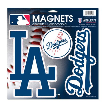 "Los Angeles Dodgers WinCraft 11"" X 11"" 3-pack Car Magnets - No Size"