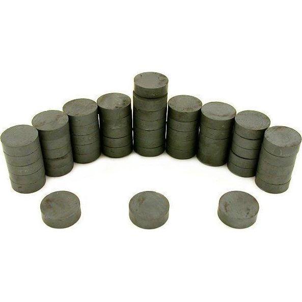 "50 Round Full Disc Magnets Crafts Hobby Home Model Fridge Office Part 3/4"""