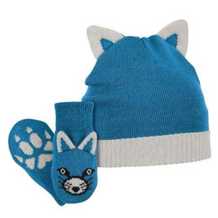 Columbia Cotton Hat - Columbia Sportswear Infant Boys Blue Snow Fox Winter Beanie Hat & Mittens Set