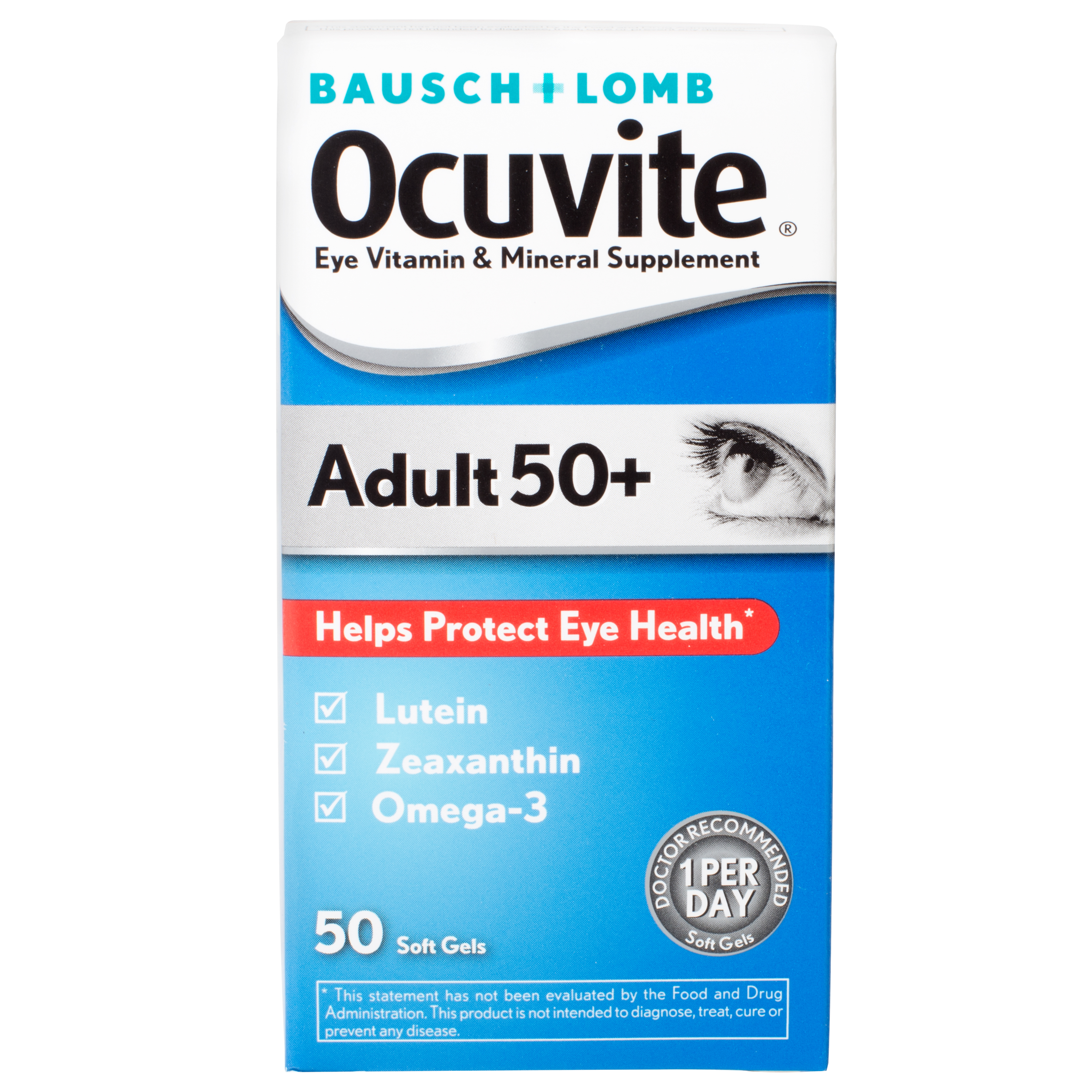 Ocuvite Eye Vitamin Adult 50  Formula Eye Health Vitamins, 50 CT Soft Gels
