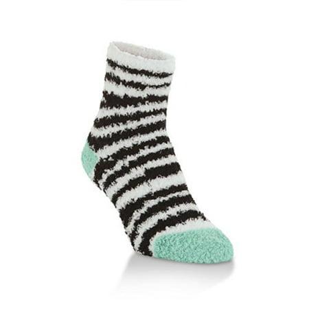 World's Softest Spa Collection Super Soft Quarter Socks, Zebra