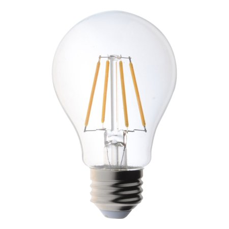 6 pack 40 watt light bulbs vintage edison style filament led dimmable a19 uses 4 5 watts warm. Black Bedroom Furniture Sets. Home Design Ideas