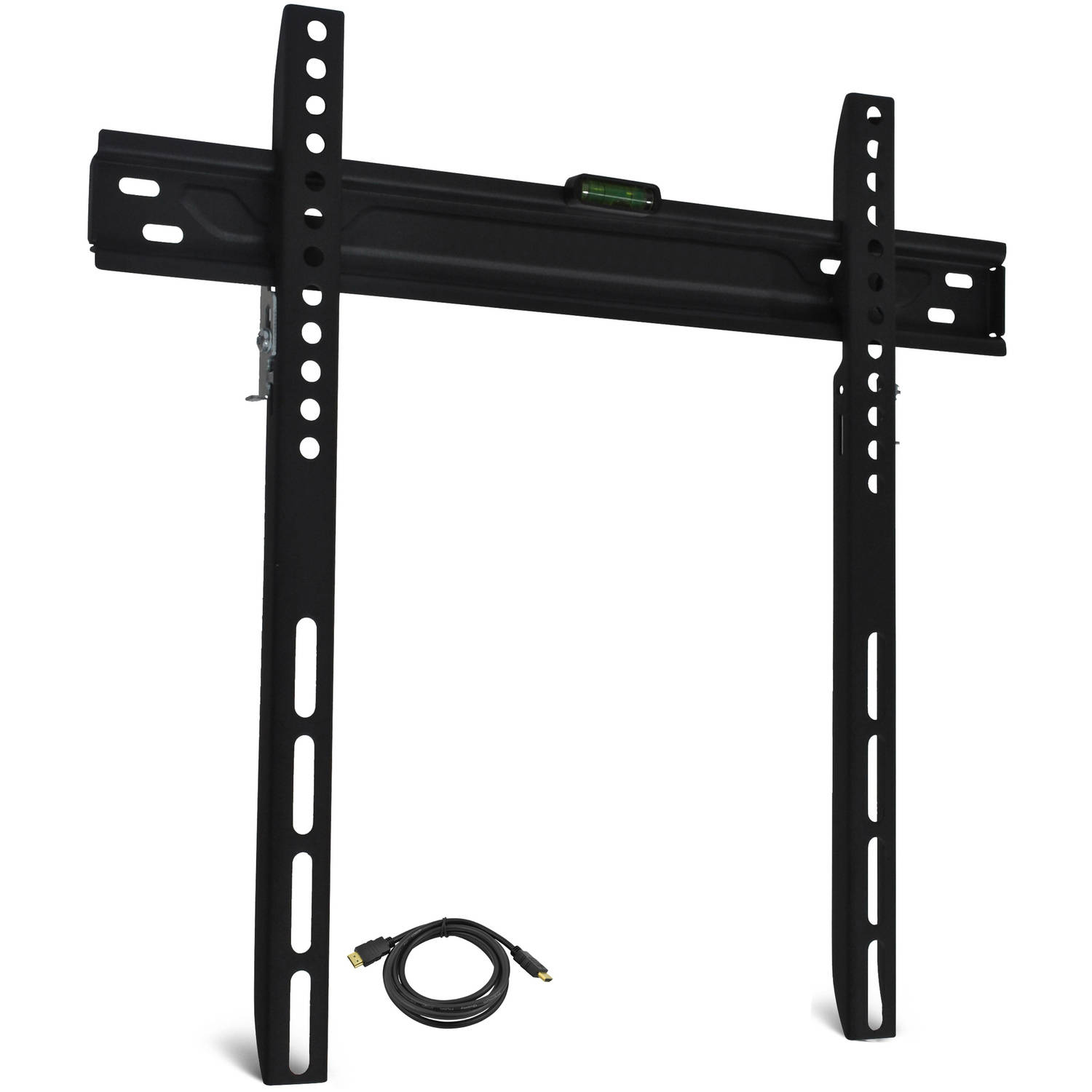 "Low-Profile TV Wall Mount for 19""-60"" TVs with HDMI Cable, UL Certified"