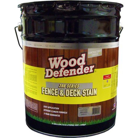 Wood Defender 200 Series Coffee Brown Semi-Transparent Stain & Sealer