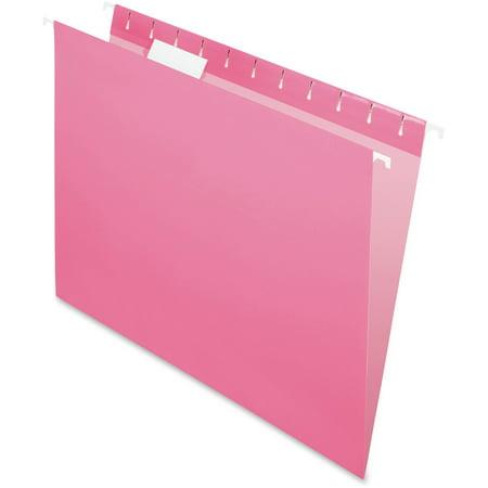 Pendaflex, PFX81609, Essentials Pink Hanging Folder, 25 / Box, Pink