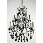 Via Venteo 12-Light Chandelier (Ebony Pearl - Crystalique Black)