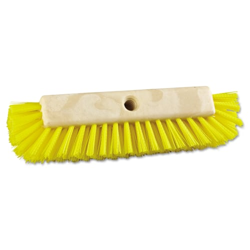 Boardwalk Plastic Fill Dual-Surface Scrub Brush, Yellow