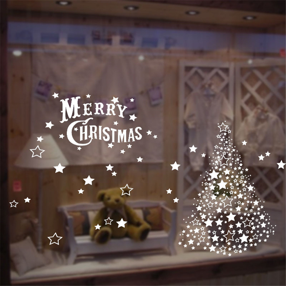 2019 Merry Christmas Household Room Wall Sticker Mural Decor Decal Removable