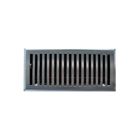 2 X 10 Brushed Nickel Contemporary Floor Register Vent Cover This On Opens A Dialog That Displays Additional Images For Product With The