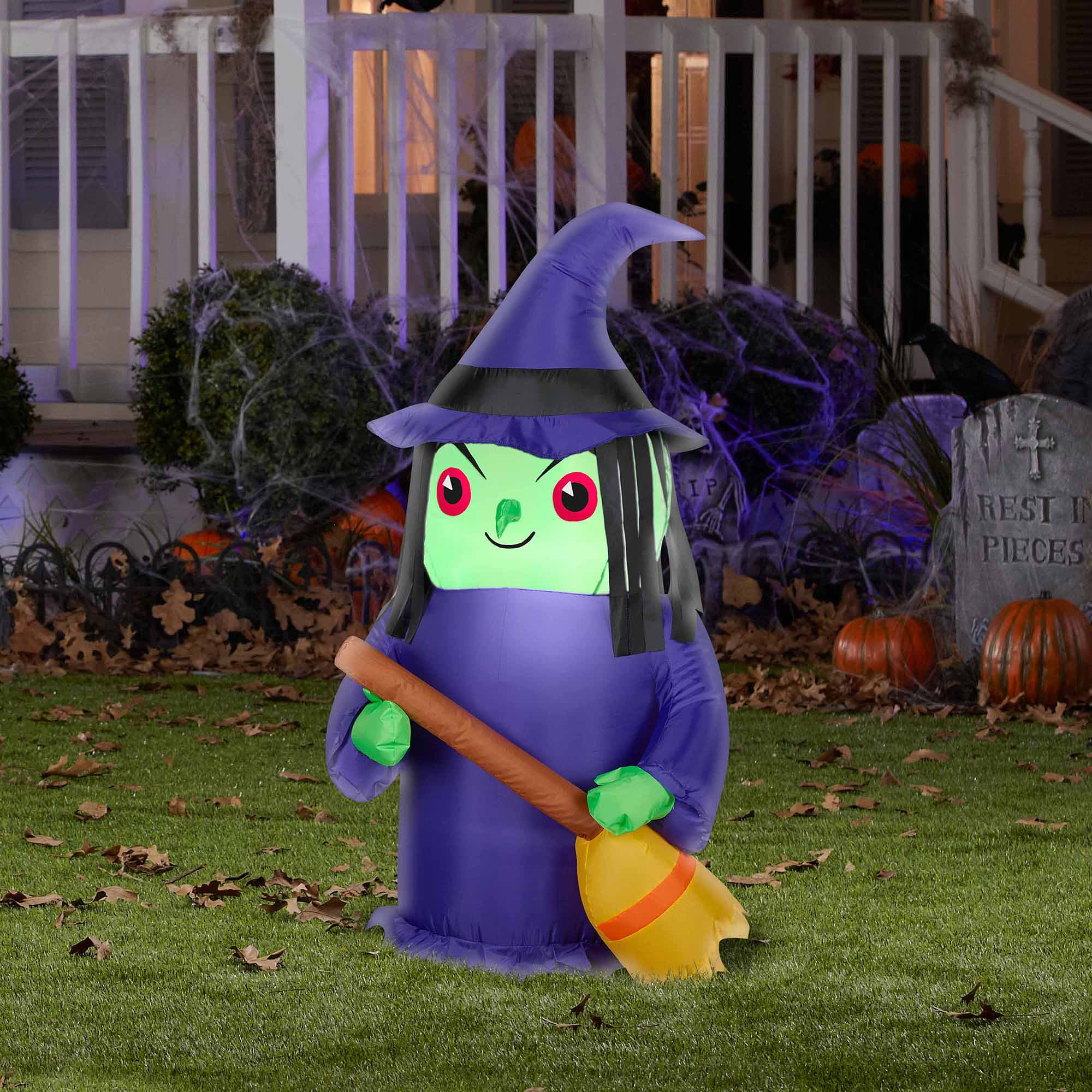 Airblown Inflatables Small Outdoor Witch